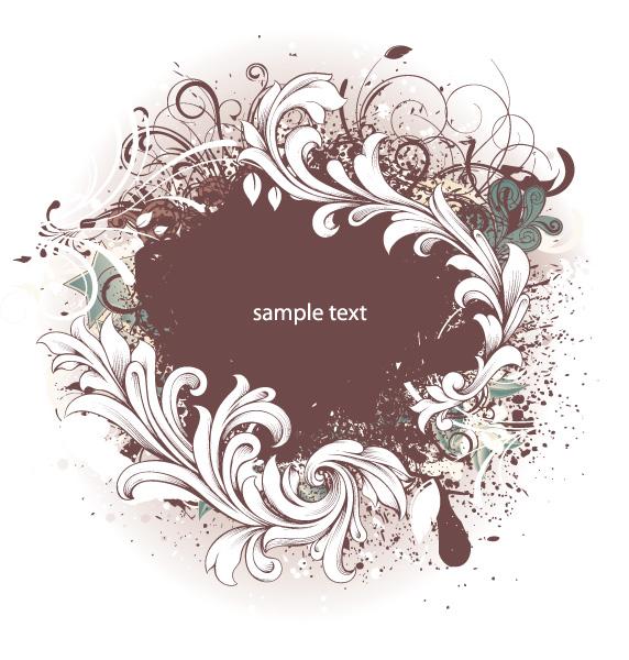 Dirt, Background, Grunge Vector Grunge Floral Background Vector Illustration 09 08 2011 63