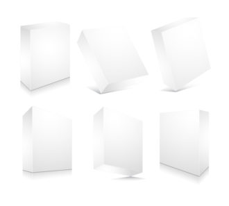 Blank 3d Boxes Set Vector Illustration Scenes vector