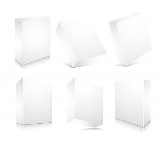 Striking Blank Vector Background: Blank 3d Boxes Set Vector Background Illustration 5
