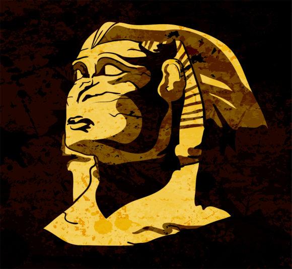 Grunge, Grunge, Statue Vector Image Grunge Sphinx Vector Illustration 09 29 2010 11