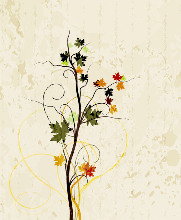 Floral, Background, Splash Vector Image Grunge Floral Background Vector Illustration 09 30 2010 19