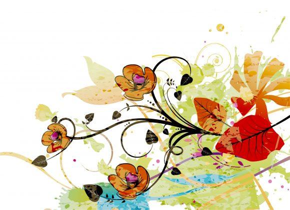 Smashing Background Vector Art: Vector Art Watercolor Floral Background 09 30 2010 24