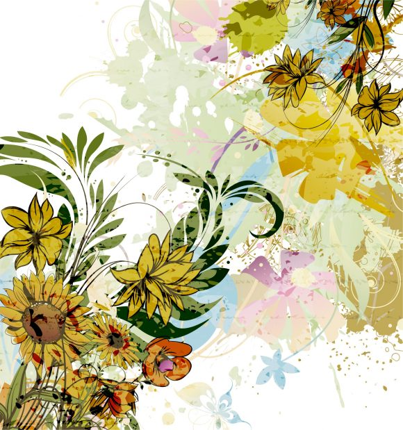 Brilliant Rust Vector Artwork: Vector Artwork Watercolor Floral Background 09 30 2010 26 scaled
