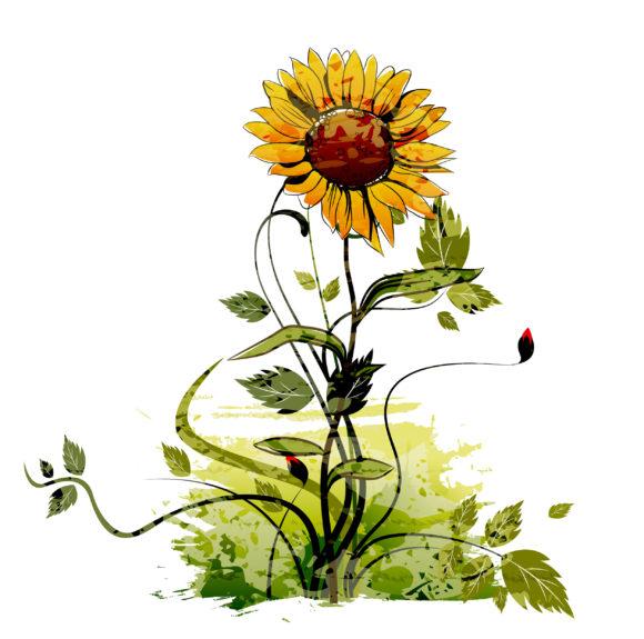 Trendy Watercolor Vector Artwork: Vector Artwork Watercolor Floral Background 5