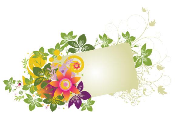 Special Illustration Vector: Grunge Floral Frame Vector Illustration 10 01 2010 15