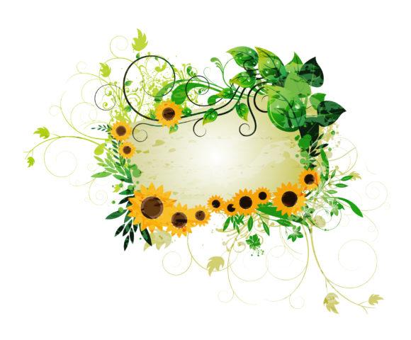 Illustration, Vector Vector Art Grunge Floral Frame Vector Illustration 5