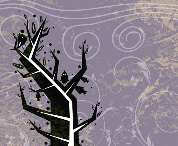 Tree Vector Graphic Vector Abstract Grunge Background 5