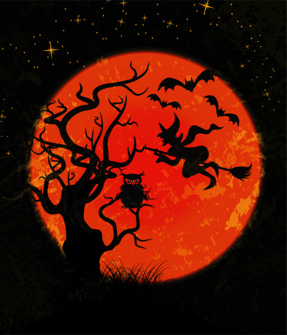 Buy Halloween Vector Image: Halloween Background Vector Image Illustration 5