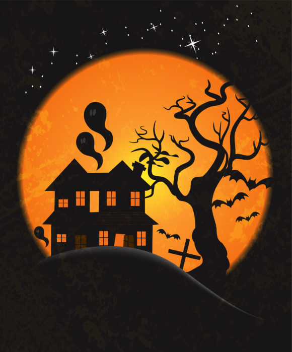 Illustration, Dirty, Background, Rust Vector Artwork Halloween Background Vector Illustration 10 04 2010 25