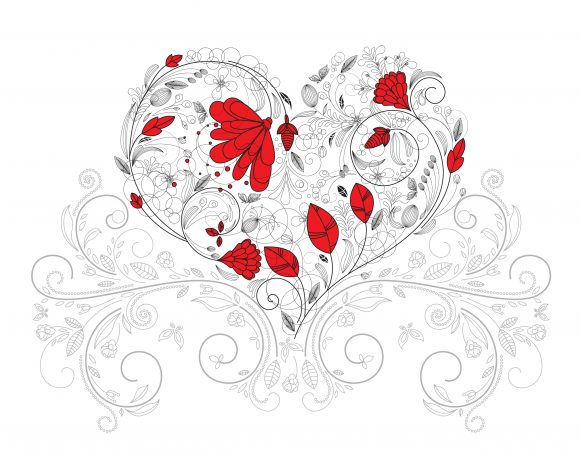 Floral, Vector Vector Artwork Vector Heart Made Of Floral 5