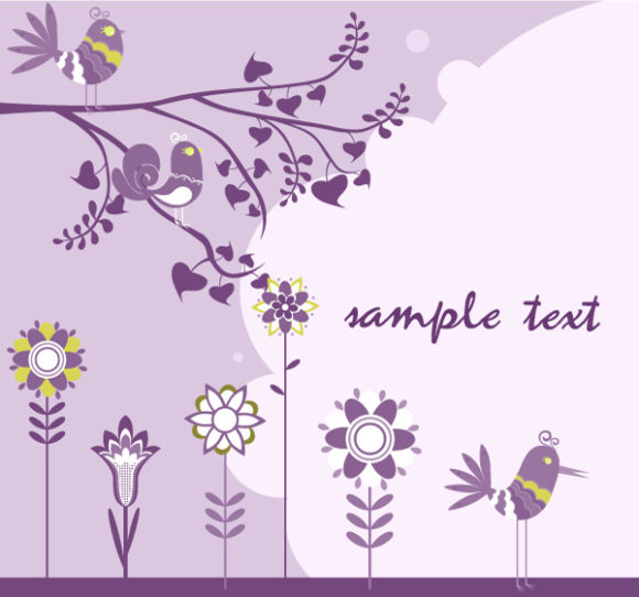 Flower, Floral Vector Vector Abstract Floral Background 5