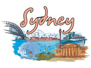 Sydney Doodles Vector Illustration Vector Illustrations sea
