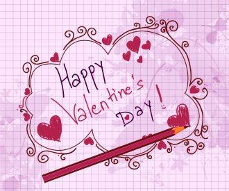 Doodles Valentine Background Vector Illustration Vector Illustrations old