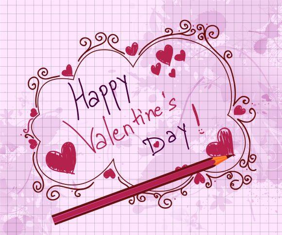 Doodles Eps Vector Doodles Valentine Background Vector Illustration 5