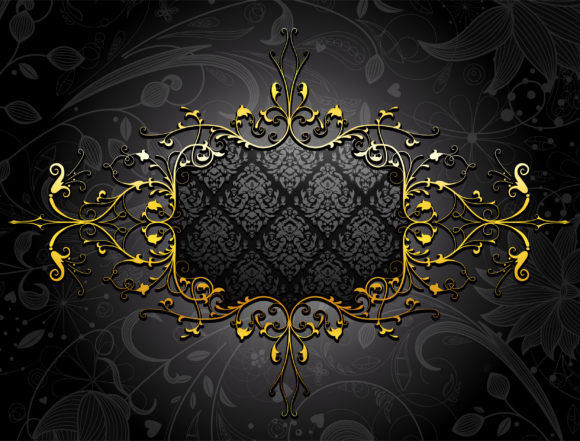 Frame Vector Art Gold Floral Frame Vector Illustration 10 08 2010 68