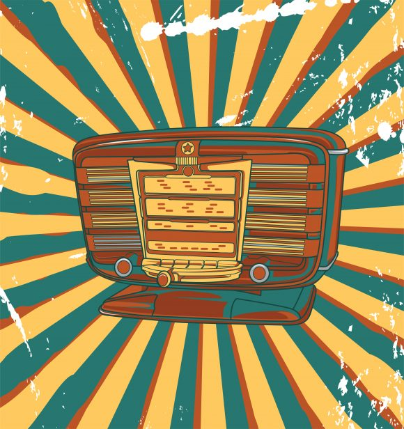 Old, Vector Vector Art Vector Retro Concert Poster With Old Radio 5
