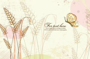 Vector Colorful Floral Background With Butterfly Vector Illustrations old