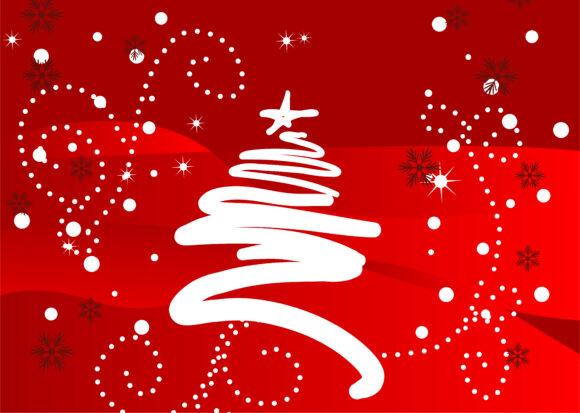 Bold Illustration Vector Graphic: Christmas Greeting Card Vector Graphic Illustration 10 12 2010 5