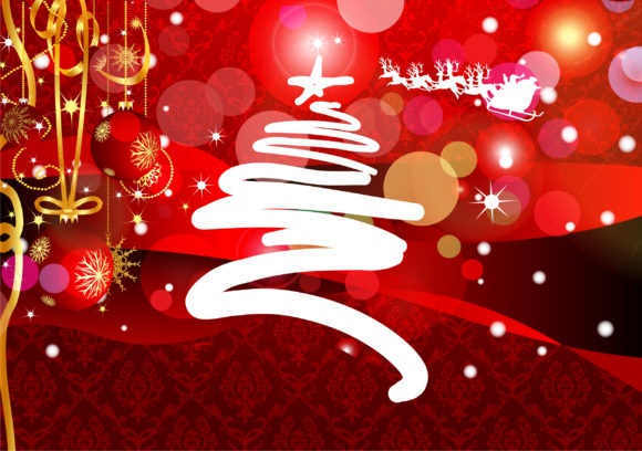 Christmas Greeting Card Vector Illustration 10 12 2010 6