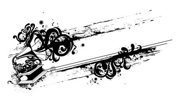 Lovely Vector Vector Art: Vector Art Grunge Music Illustration 10 13 2010 62