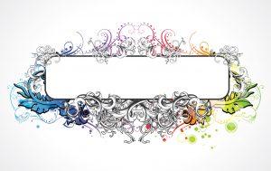 Colorful Floral Frame Vector Illustration Vector Illustrations floral