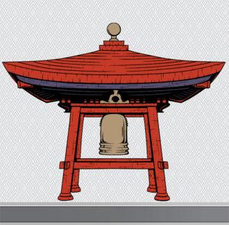 Japanese Bell Shelter Vector Design Element Vector Illustrations vector