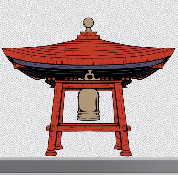 Special Vector Vector Artwork: Japanese Bell Shelter Vector Artwork Design Element 10 14 2010 50