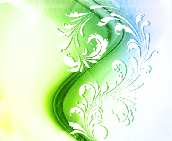 Gorgeous Illustration Vector Image: Abstract Floral Background Vector Image Illustration 10 18 2010 60