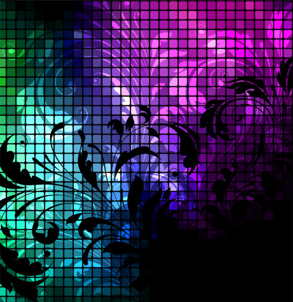 Astounding Background Vector Design: Abstract Floral Background Vector Design Illustration 10 18 2010 62