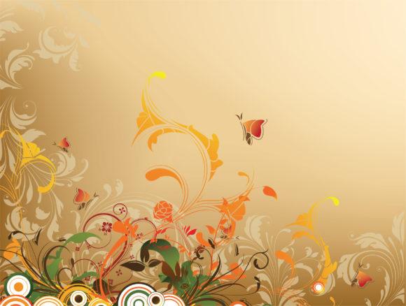 Floral, Plant, Flower, Vector Vector Artwork Vintage Floral Background Vector Illustration 5