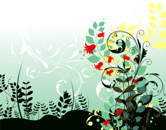 Vintage Vector Illustration: Vintage Floral Background Vector Illustration Illustration 1