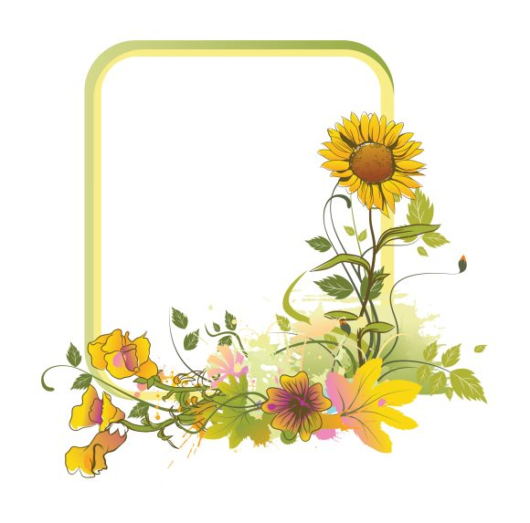 Colorful, Frame Vector Graphic Colorful Floral Frame Vector Illustration 10 21 2010 57