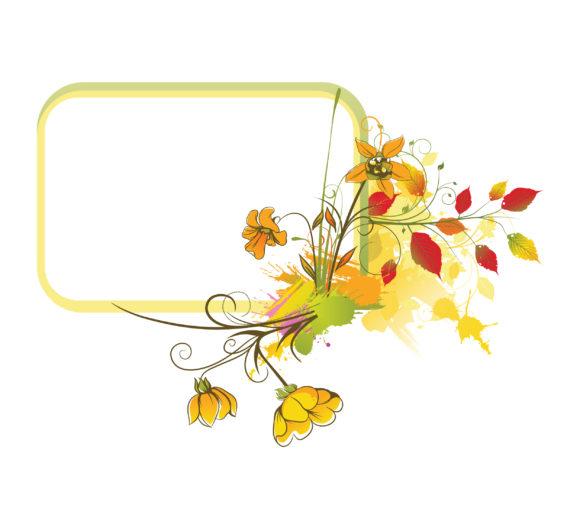Smashing Frame Vector Art: Colorful Floral Frame Vector Art Illustration 5