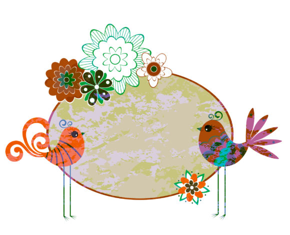 Frame, Vector Vector Graphic Vector Abstract Floral Frame 5