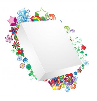 Vector Blank 3d Box With Floral Vector Illustrations star