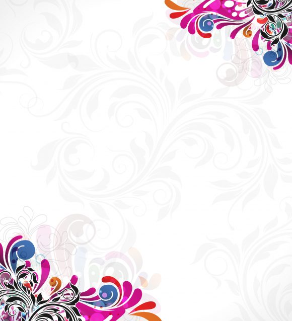 Trendy Abstract Vector Image: Vector Image Abstract Floral Background 10 26 2010 10