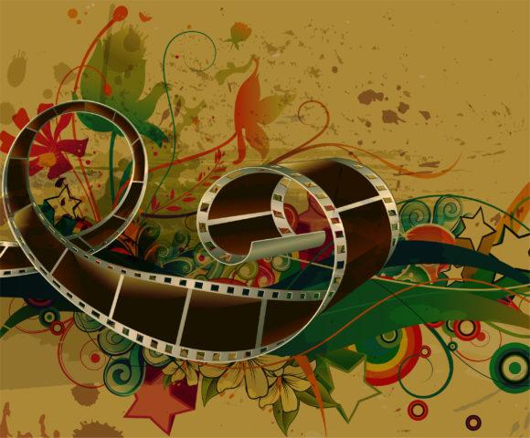 Strip, Film Vector Image Film Strip With Grunge Background Vector Illustration 5
