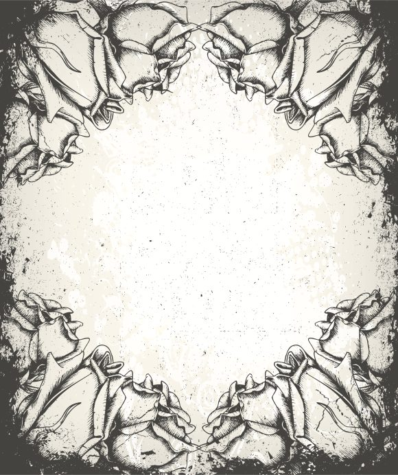 Amazing Vector Vector Artwork: Vector Artwork Grunge Floral Background With Roses 10 26 2010 64