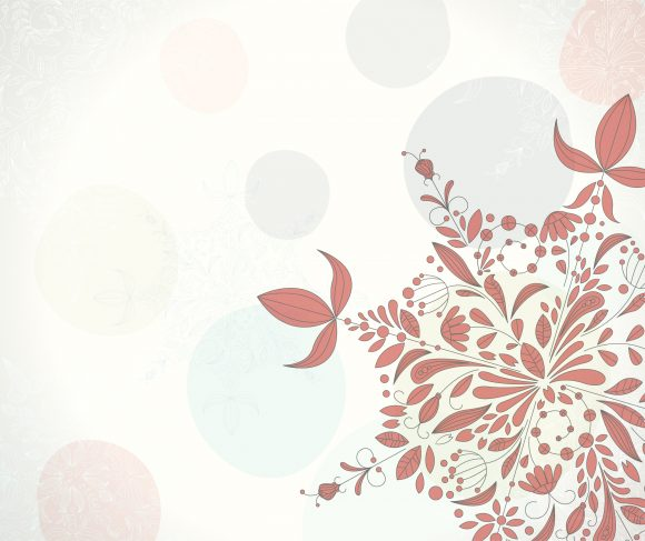 Snowflakes, Greeting Vector Illustration Vector Christmas Greeting Card With Snowflakes Made Of Floral 5