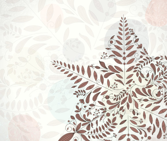 Floral Vector Graphic Vector Christmas Greeting Card With Snowflakes Made Of Floral 10 27 2010 9