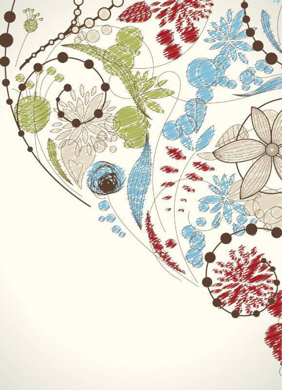 Floral Vector Image Doodles Floral Background Vector Illustration 10 28 2010 52