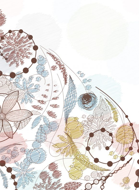 Awesome Creative Vector Background: Doodles Floral Background Vector Background Illustration 5