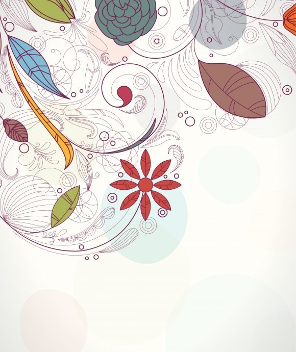 Creative Eps Vector Retro Floral Background Vector Illustration 10 28 2010 56