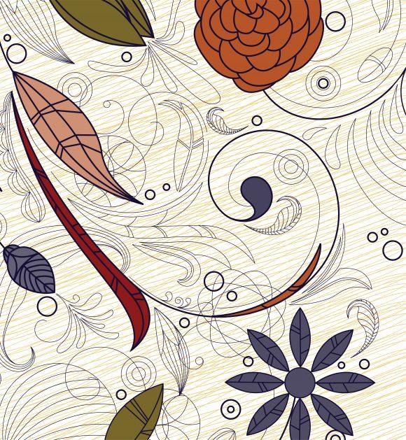 Doodles, Flower, Floral Vector Doodles Floral Background Vector Illustration 5