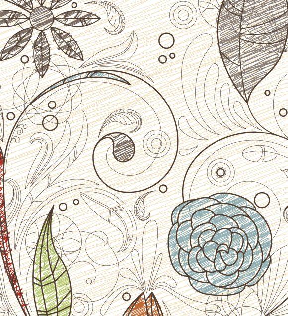 Amazing Vector Vector Art: Doodles Floral Background Vector Art Illustration 10 29 2010 29