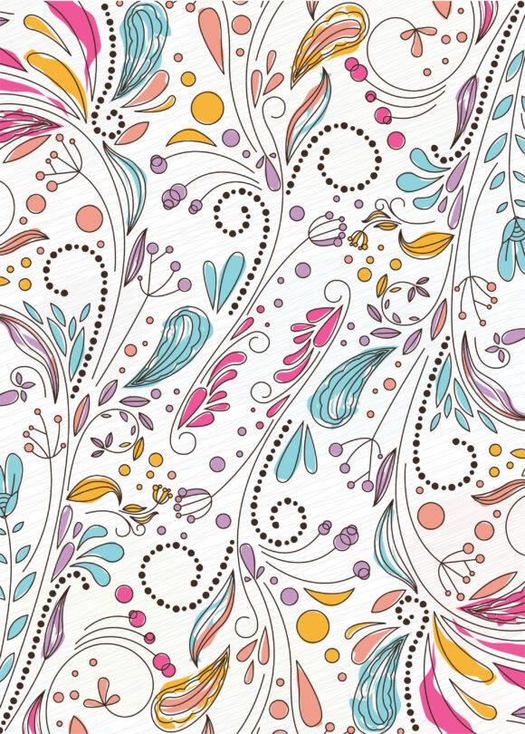 Illustration Vector Illustration: Doodles Floral Background Vector Illustration Illustration 5