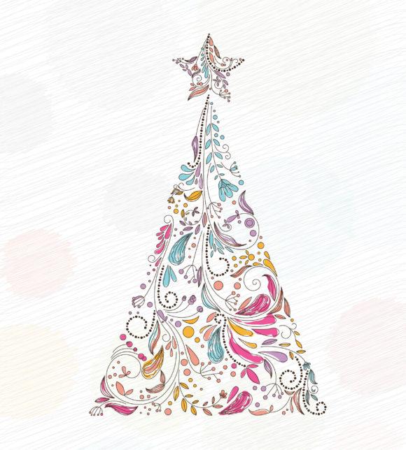 Vector Vector Art: Vector Art Doodles Christmas Greeting Card 10 29 2010 51