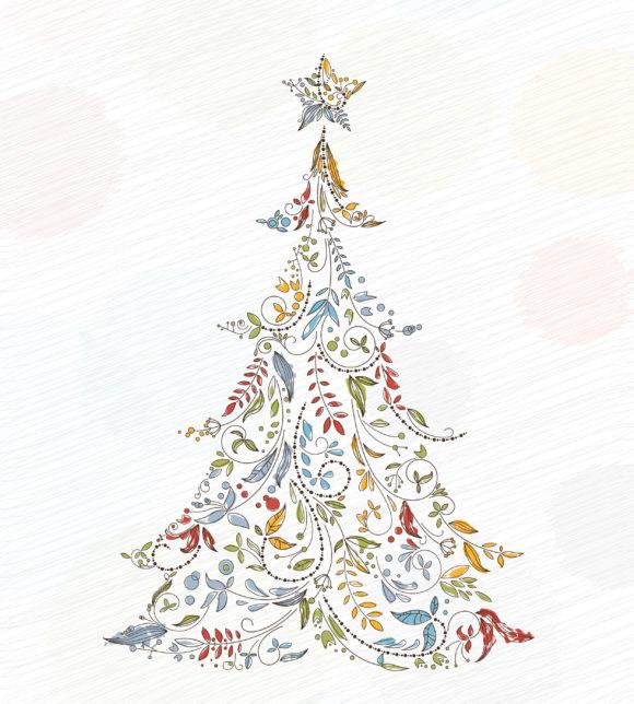 Striking Christmas Vector Design: Vector Design Doodles Christmas Greeting Card 10 29 2010 52