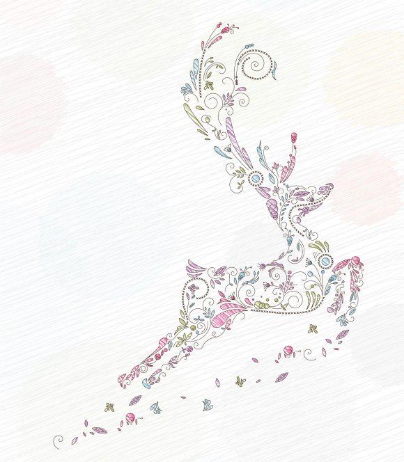 Bold Colorful Vector Art: Vector Art Doodles Christmas Greeting Card 10 29 2010 55