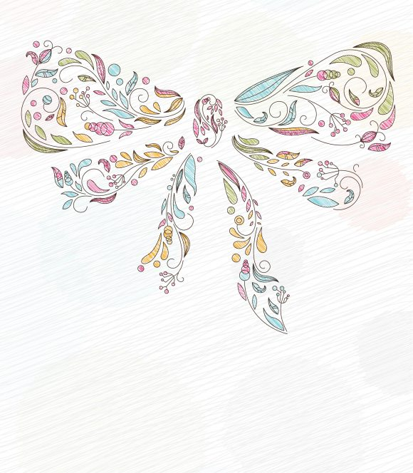 Of, Bow, Vector, Floral, With, Plant, Illustration Vector Image Doodles Background With Bow Made Of Floral Vector Illustration 11 01 2010 16
